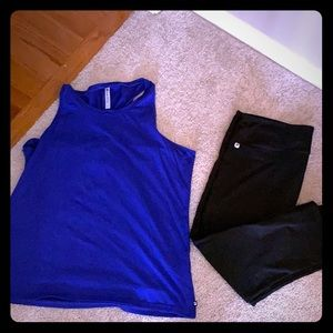 Fabletics top and pants XXL
